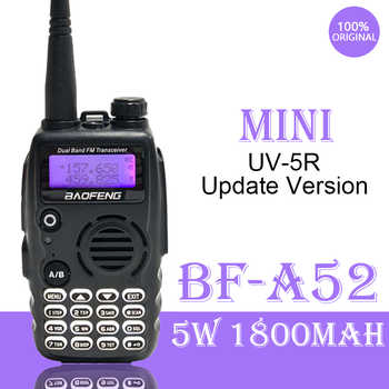 2020 Baofeng A-52 Walkie Talkie Dual Band VHF/UHF 5W Handheld FM HF Transceiver 128 Channel 2Way Radio BF-A52 BF UV5R Update New - DISCOUNT ITEM  37 OFF Cellphones & Telecommunications