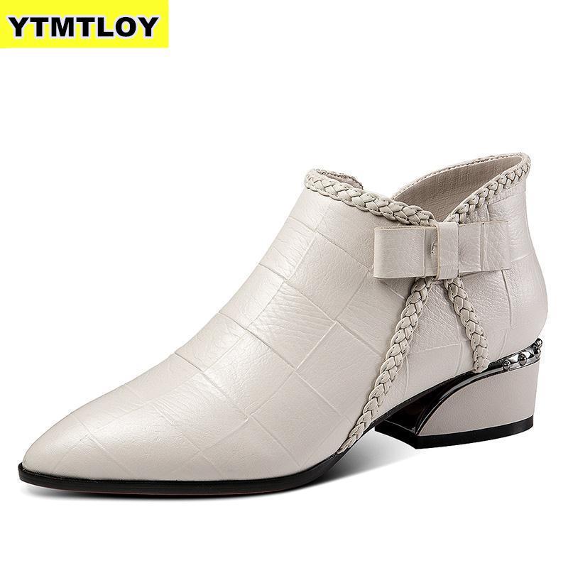 Ботильоны размера плюс 42; женская обувь на платформе со шнуровкой и пряжкой; короткие ботинки на толстом каблуке; женская повседневная обув...