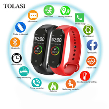 Hot New M4 Smart Sports Blood Pressure Heart Rate Monitor With Watch Men And Wom