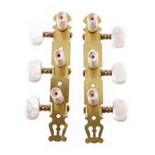 One Set of Classical Guitar Tuning Keys Pegs Machine Heads Tuner 1 set silver zinc alloy tuning pegs keys machine heads for acoustic guitar with lock knob