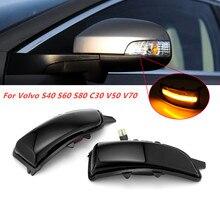 Für Volvo S40 S60 S80 C30 V50 V70 Dynamische Blinker Licht LED Rück Seite Spiegel Licht Sequentielle Blinker Anzeige licht