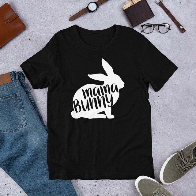 Maman lapin chemise pâques chemise pour maman grunge tumblr coton drôle mode t-shirt mignon lapin graphique esthétique t-shirt hauts K897