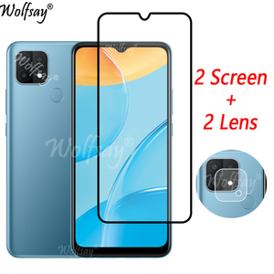 Image 1 - Full Cover Whole Glue Tempered Glass For Oppo A15 Screen Protector For Oppo A15 Camera Glass For Oppo A15 A 15 Glass 6.52 inch