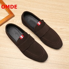 OMDE Loafers Summer Soft Soles Men Loafers Suede Mens Casual Shoes Slip On Dress Shoes Leather Men's Moccasins Driving Shoes suede slip on mens shoes