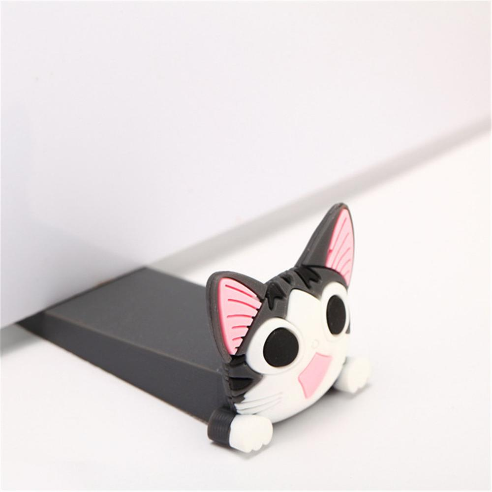 Baby Safety Cartoon Door Stopper Finger Protection Corner Guards Children Door Stoppers Holder Silicone Mouse Shape Wedge Slip