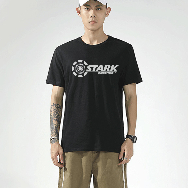 2021 Stark Industries Tony Iron Man T Shirts Summer Brand Cotton O Neck TShirts Fitness Casual Short Sleeve Tops Tees Plus Size
