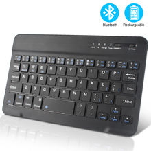 Wireless Keyboard Mini Bluetooth Keyboard for iPad TV Tablet Phone Andriod Keyboard Rechargeable Compatible with IOS Windows mini handheld rechargeable 80 key bluetooth v2 0 keyboard for android phone tablets white
