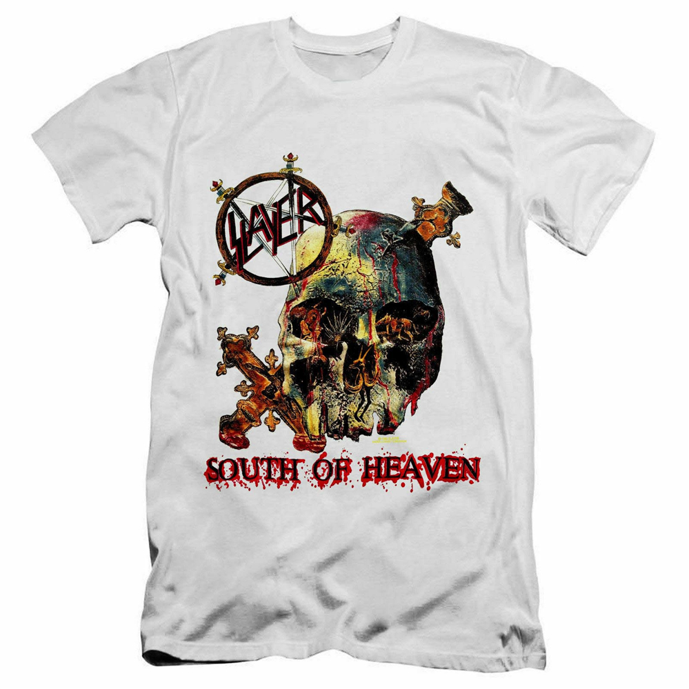 Slayer New Men T-Shirt South Of Heaven 80/'s Heavy Metal Rock Shirt