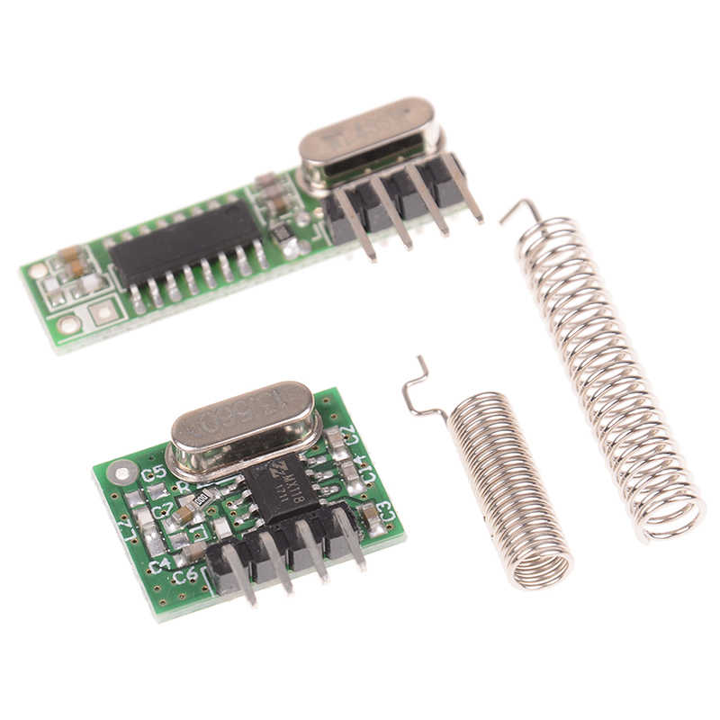 โมดูลสำหรับ Arduino 1Pcs 433 MHz Superheterodyne ตัวรับสัญญาณ RF และเครื่องส่งสัญญาณ