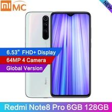 """Küresel sürüm Redmi not 8 Pro 6GB RAM 128GB ROM 64MP dörtlü kamera MTK Helio G90T Smartphone 4500mAh 6.53 """"FHD 18W QC3.0 NFC"""
