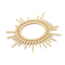 Uds latón crudo sol flor encantos inusual pendientes colgantes radiación forma DIY accesorios para mujeres 2020 tendencia de fabricación de la joyería