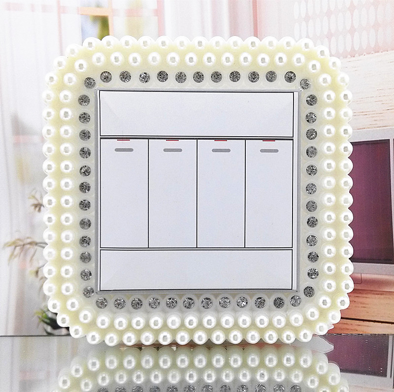 European Style Creative Plastic Pearl White 86 Type Switch Stickers Switch Set Of Home Only Wall Stickers Manufacturers Direct S