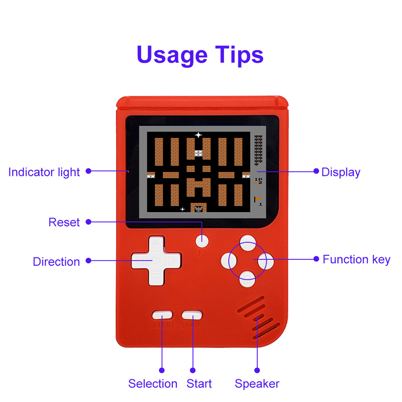 Image 3 - Retro Portable Mini Video Game Console 8 Bit Pocket Handheld Game Player Built in 400 in 1 Classic Games Best Gift game boy-in Handheld Game Players from Consumer Electronics