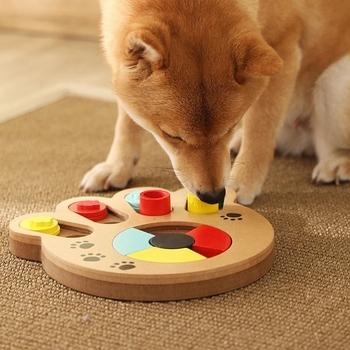Pies Puzzle zabawki zwiększ IQ interaktywny powolny dozownik podajnik kot domowy szczeniak szkolenia gry karmienie jedzenie zabawka rozwijająca inteligencję tanie i dobre opinie PETTOIESTY CN (pochodzenie) Drewna Interaktywne zabawki Dogs Interactive pet toys Slo Dog Iq Training Entertai Feeder Dog Iq Training To
