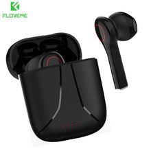 FLOVEME Mini TWS kablosuz Bluetooth kulaklık HiFi Stereo HD çağrı kulaklık akıllı dokunmatik su geçirmez spor kulaklık Xiaomi Huawei için