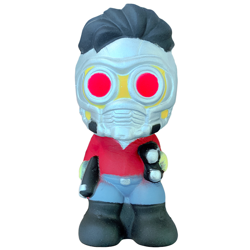 Kawaii Marvel Star-Lord Squishy Slow Rising Cartoon Doll Soft Squeeze Toy Stress Relief Creative Fun Xmas Gift Toy For Children