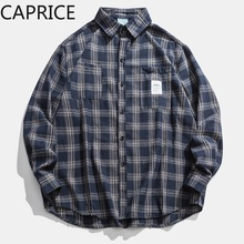 2019 Autumn & Winter Long Sleeve Casual Shirt Hiphop Streetwear Mens Plaid Check Flannel
