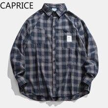 цена на 2019 Autumn & Winter Long Sleeve Casual Shirt Hiphop Streetwear Men's Plaid Check Flannel Shirt