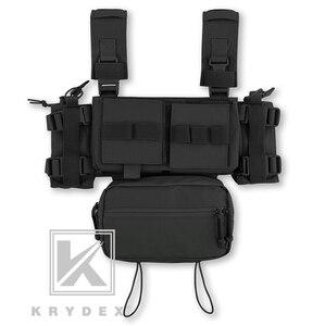 Image 4 - KRYDEX MK3 taktik göğüs Rig Mini Spiritus Airsoft avcılık yelek Ranger askeri taktik taşıyıcı yelek dergi kılıfı ile