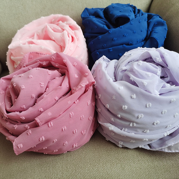 1 PC New Pom Chiffon Design Hijab Scarf Shawl Wrap Headband Long Women scarf scarves