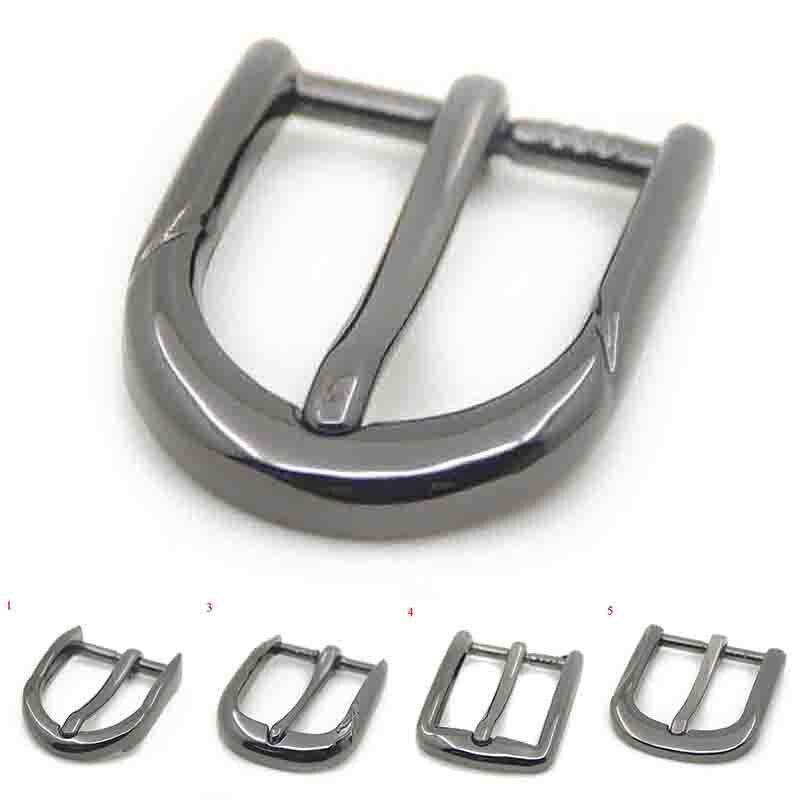 Metal 25mm Belt Buckle Casual Men End Bar Heel Bar Single Pin Belt Half Buckle Leather Craft Jeans Webbing Zinc Alloy Pin Buckle
