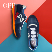 OPP Men's Shoes Cow Leather Flats Fashion Shoes Genuine Leather Lace-up Sports Shoes Men's Casual Footwear Sneakers wetkiss new design cow leather women s sneakers fashion ladies flats lace up casual shoes female walkable footwear