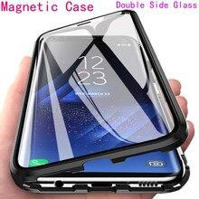 Магнитный металлический двухсторонний стеклянный чехол для Samsung S21 A12 S20 FE Note 20 A31 A21S A21 A11 A51 A71 M51 M31 M21 A91 A81 A30 A20S