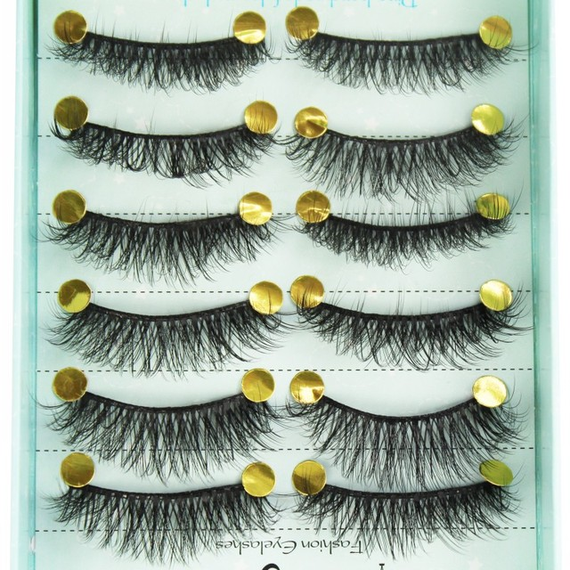 10 Pairs 3D Soft Faux Mink Hair False Eyelashes Natural Messy Eyelash Wispy Fluffy Crisscross Eye Lashes Extension Makeup Tools 2