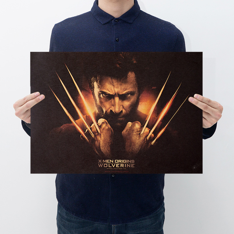 Room decoration movie poster Wolverine kraft paper series bar cafe decoration painting wall stickers