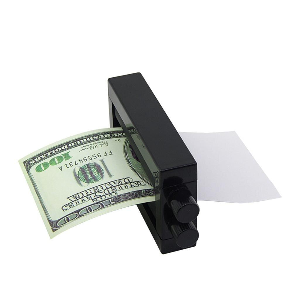 Brinquedo da novidade máquina de impressão de notas de plástico brinquedo de papel criar dispositivo de dinheiro miúdo magia truques clássicos brinquedos para crianças jogando