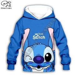 Crianças Pano Anime kawaii Lilo ponto 3d hoodies/camiseta/camisola menino Dos Desenhos Animados Filme Hot pant estilo-7