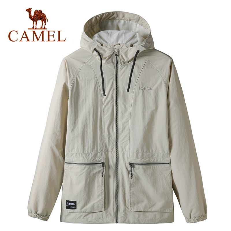 CAMEL New Arrivals Men's Tops Casual Outdoor Coat Water Repellent Sports Hooded Zipper Jacket Windbreaker Jacket Male