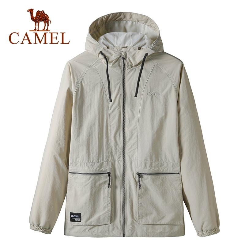 CAMEL New Arrivals Men's Tops Casual Outdoor Coat Water Repellent Sports Hooded Zipper Jacket Windbreaker Jacket Male
