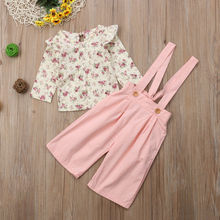 Kids Baby Girl Clothes Set Floral Tops+Pants Overall