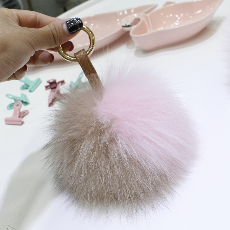 Korean style all-match color fox fur ball pendant real fur ball cute bag pendant lovely key chain