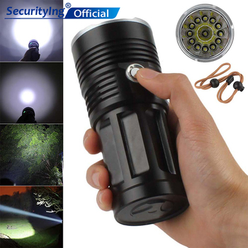 SecurityIng 13x XML-T6 LED 2000Lm LED Flashlight 18650 Super Bright Outdoor Lamping Rechargeable Torch Hunting Flashlight Lights sitemap 12 xml