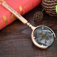 8X60mm przenośny ręczny metalowy lupa lupa Retro oko lupa szkło do biżuterii gazeta książka Readingq w Zewnętrzne narzędzia od Sport i rozrywka na
