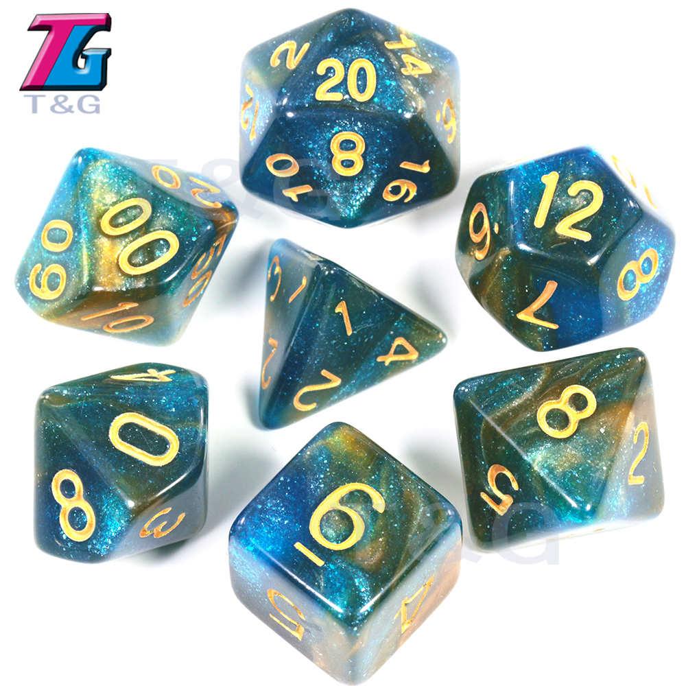 2019 Super Universe Galaxy DND Dice Set D4-D20 DND RPG Best Gifts 15 Colors For Choose Christmas Gift