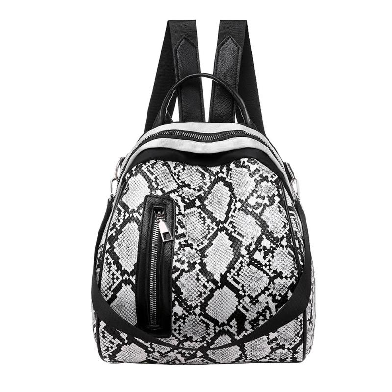 Lady PU Backpack Snake Print Anti Theft Leather Backpack Women Mini Backpacks Female Travel Backpack For School Backpacks