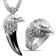 Популярное модное изысканное креативное ожерелье с орлом кольцо