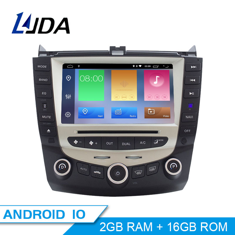 LJDA Android 10 Car Multimedia Player For <font><b>Honda</b></font> <font><b>Accord</b></font> <font><b>2003</b></font> 2004 2005 2006 2007 2 Din Car Radio Audio WIFI GPS <font><b>Stereo</b></font> DVD CD SD image