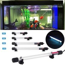 цены 110-240V US/EU/AU/UKPlug UV Light Sterilizer Fish Tank Sterilizer Lamp Light Remove Algae Cleaner Purification Aquarium D30