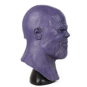 Image 3 - Halloween Mask Deluxe Thanos Mask Horror Mask Adult Latex Cosplay War Helmet Masks Party Scary Props Mascaras Halloween Mask