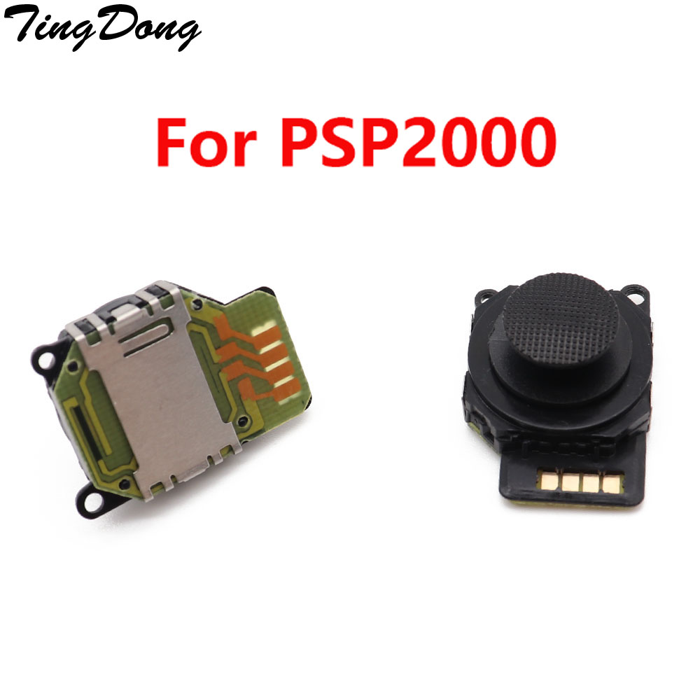 TingDong  Joystick For PSP 2000 Replacement Parts Black 3D Button Analog Joystick Console Games Accessories For Sony PSP 2000