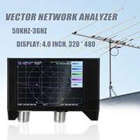 Analizador de red de Vector 3G, pantalla de 4,0 pulgadas, SAA-2N, Analizador de antena NanoVNA V2, onda corta, HF, VHF, UHF, con carcasa de hierro, batería