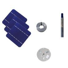 100 вт DIY набор солнечных панелей зарядное устройство 40 шт. монокристаллическая солнечная батарея 5X5 с 20 м табуляционный провод 2 м шина провод и флюс ручка