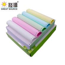 Computer Form Carbonless Printing Paper For Dot Matrix Printer 1000 Sheets 1-5 Layers 1-3 Columns