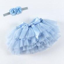 Short Tutu Tulle Ruffle Chiffon Girl Skir Newborn Baby Summer Bloomers Diaper-Cover Photography