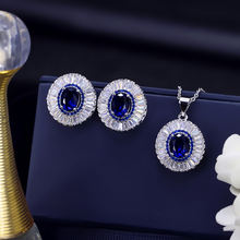 Aaa серебро aaa Циркон Свадебные Серьги Ожерелье Ювелирные наборы