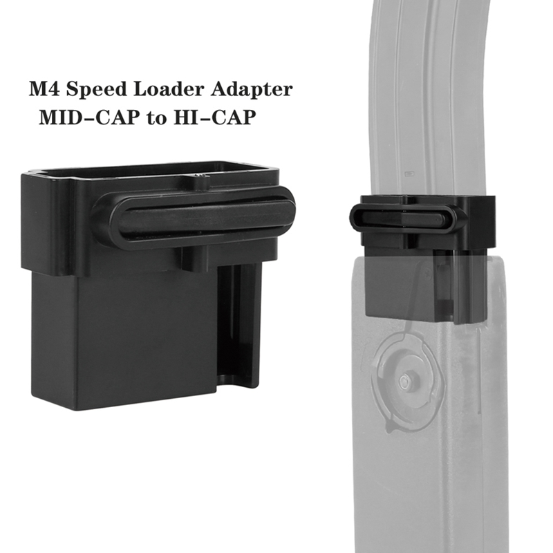 1 Pcs Paintball Accessories M4 BB Speed Loader Adapter MID-CAP To HI-CAP Mag Converter For M4 Airsoft